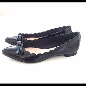 Kate Spade Eleni Flex black patent bow flats (8.5)